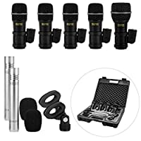 Nady DMK-7 Seven Piece Drum Microphone Kit - Includes four DM-70 microphones two CM-90 overhead microphones and one DM-80 kick drum microphone in a storage case [並行輸入品]
