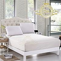 クラウンロイヤルホテルコレクション寝具の750スレッド数エジプトコットンフィットシートRVサイズ8インチ深いポケットホワイトソリッドエクスポート品質 Cal King 72 ''x 84'' ホワイト