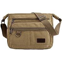 Multifunctional Canvas Messenger Bag   Canvas Messenger Bag   Vintage Canvas Crossbody Bag   Unisex Design Canvas Sling Bag for Men, Women
