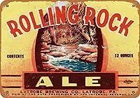 1934年ローリングロックエールコレクタブルウォールアートティンサイン