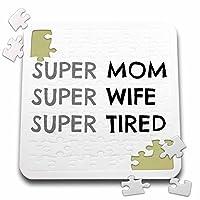 BrooklynMeme面白いことわざ–Super Momスーパー妻スーパーTired–10x 10インチパズル(P。_ 253760_ 2)