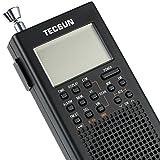 TECSUN PL-360 超小型デジタルDSPポケット短波ラジオ 長波・中波用外付アンテナ ポータブルBCL受信機 FMステレオ/LW/MW/SW ワールドバンドレシーバー 450局プリセットメモリー シグナルメーター USB給電 ATSオートプリセット ETM スリープタイマー アラーム 高音質スピーカー (シルバー)