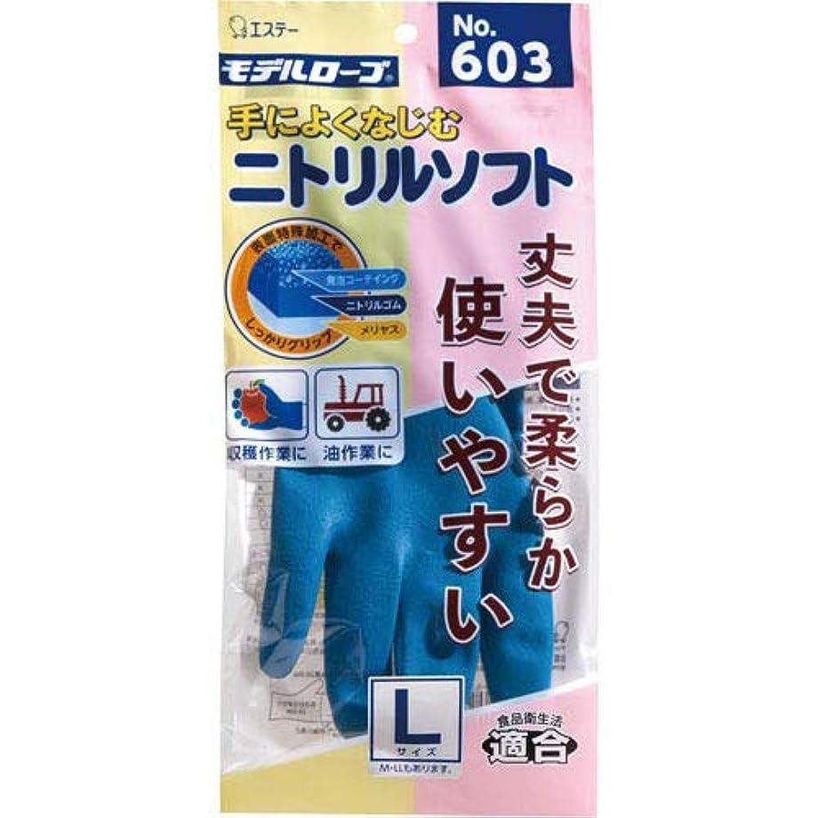 鮮やかなラジウム右モデルローブ ニトリルソフト No.603 L