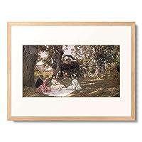Stewart, Julius Leblanc,1855-1919 「Picnic under the Trees. 1896」 額装アート作品