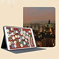 新しい IPad mini1/2/3 ケース おしゃれ 手帳型 横開き スマートカバー チェック 切り替え IPad mini3 指紋防止 [オート スリープ/スリー プ解除]日没ゴシック中世の建物でヨーロッパのデコでプラハ橋の空中風景