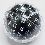 GAMESCIENCE 100面ダイス D100 ZOCCHIHEDRON サイコロ (黒 (BLACK))