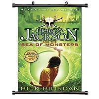 パーシー ジャクソンとオリンポスの海 ザ モンスターズ (リック・リオダン) ファブリック ウォール スクロール ポスター (16インチ x 25インチ)