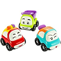 AITING Cars Toy, Set of 3 Play Vehicles, Push and Go Friction Powered Car Toys, Mini Cartoon Hands Pushing Vehicles for Toddlers