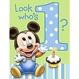 Disney Mickey's 1st Birthday Invitations ディズニーミッキーの第1誕生日の招待状?ハロウィン?クリスマス?
