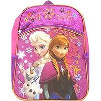 """Disney Frozen Princess Elsa & Anna Backpack, Large 16"""" School Bag, New Licensed Design"""