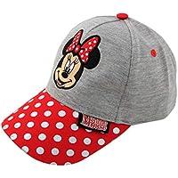 Disney Girls Minnie Mouse Heather Jersey Baseball Cap Baseball Cap Ages 2-4 Gray/Red
