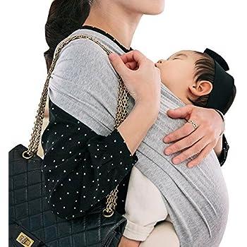 コニー ぐっすり 抱っこひも シンプル ビップシート ベビーキャリア スリング シンプル 軽い 軽量 コンパクト お出かけ 楽な 簡単 安全 抱っこ紐 (グレー) (M)