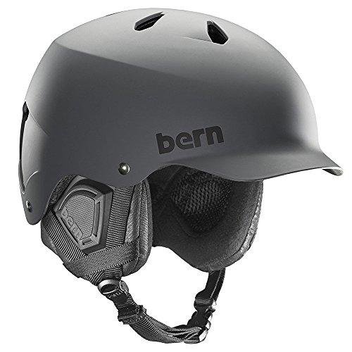 BERN (バーン) WATTS DELUXE ヘルメット メンズ ウィンター モデル HARD HAT アクションスポーツ M MATTE GREY