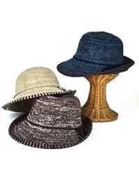 ノーブランド品 ヒモ巻ミックスモールサーモハイバック レディース帽子
