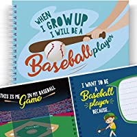 (Baseball Player) - LITTLE KIDS BASEBALL - WHEN I GROW UP I WILL BE A BASEBALL PLAYER - Let's Write the Future with this Memory and Colouring Book for Kids. Child's Journal, Art Activity for Children, Gifts for Boys