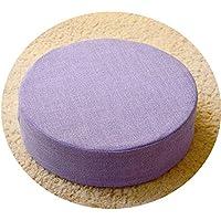 リネン畳の布団のクッションの生地丸いバルコニーのベイの窓パッドの取り外し可能な洗濯可能なヨガの瞑想礼拝仏のパッド,紫色,直径50cm*10cm