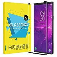 Samsung Galaxy Note 9 フィルム - ATiC Samsung Galaxy Note 9 液晶保護強化ガラスフィルム 3D曲面デザイン 表面硬度9H/耐衝撃/高透明度/指紋防止/気泡ゼロ - Black
