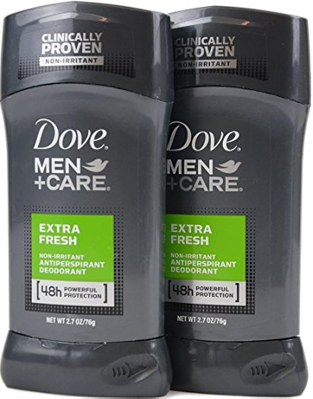 不健全三識別Dove Men+Care ダヴ メンズ 固形デオドラント スティック エクストラ フレッシュ 76g×2個[並行輸入品]