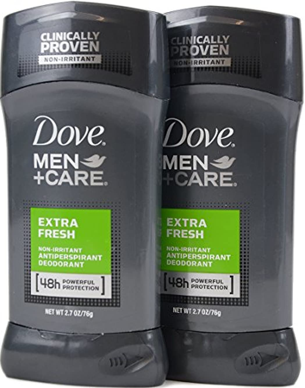 責め安全でない撤退Dove Men+Care ダヴ メンズ 固形デオドラント スティック エクストラ フレッシュ 76g×2個[並行輸入品]