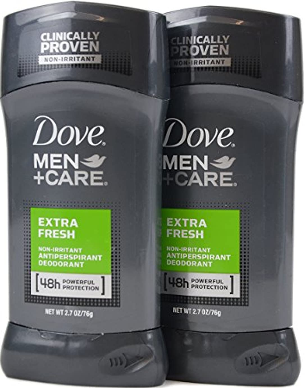 ブローホールミュート強制的Dove Men+Care ダヴ メンズ 固形デオドラント スティック エクストラ フレッシュ 76g×2個[並行輸入品]