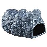 GEX EXOTERRA モイストロック170 湿度管理 陶器製シェルター 約W10×D16.5×H9cm [爬虫類用]