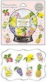 ミラネージュ 箔押しフレークシール トレペ素材 flake sticker クーリア  (フレッシュフルーツ)