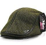 (ムコ) MUCO メンズ レディース キャスケット ハンチング帽 欧米 紳士 ニットハンチング オシャレ カジュアル 調節可能 アウトドア ゴルフ ギフト(6カラー)green
