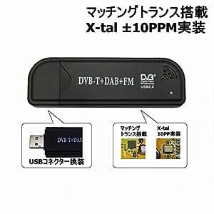 中波、短波、簡易受信対応/マッチングトランス搭載+日本製水晶振動子換装 TV28Tv2DVB-T(R820T)カスタムチューナー[RTL2832U+R820T][オールバンド、オールモード広帯域受信用]【USBコネクター換装品】