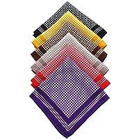 JEMYGINS 6PCS Silk Pocket Squares for Men Handkerchief Hanky Set