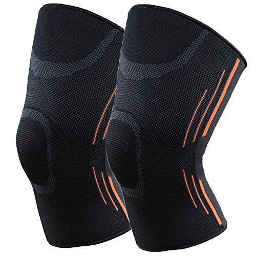 Alterego スポーツ 薄型 膝サポーター 膝固定 関節 サポート ランニング バスケ 登山 3サイズ 怪我防止 2個セット … (S:ひざ周り(31cm-48cm))