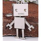 キーホルダー ロボット 愛くるしい 可愛い スタイル 亜鉛合金 シルバーカラー