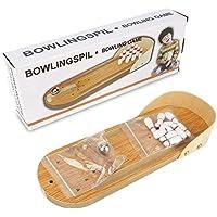 ミニボウリングゲーム、ミニ木製デスクトップボウリングゲームミニ卓上ボウリング玩具クラシックデスクボール子供と大人のための