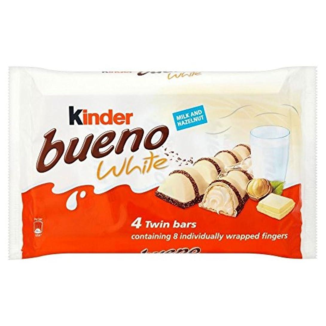 ベース旅行レンズKinder Bueno Twin Bars White Chocolate (4x43g) キンダーブエノツインバーホワイトチョコレート( 4X43G )