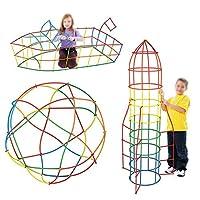 AISI Mily子供ストローとコネクタBuilding Toysカラフル酷使プラスチックEngineringおもちゃFineモータースキル酷使Stem Toys 50+50 xgjm-00031-02S