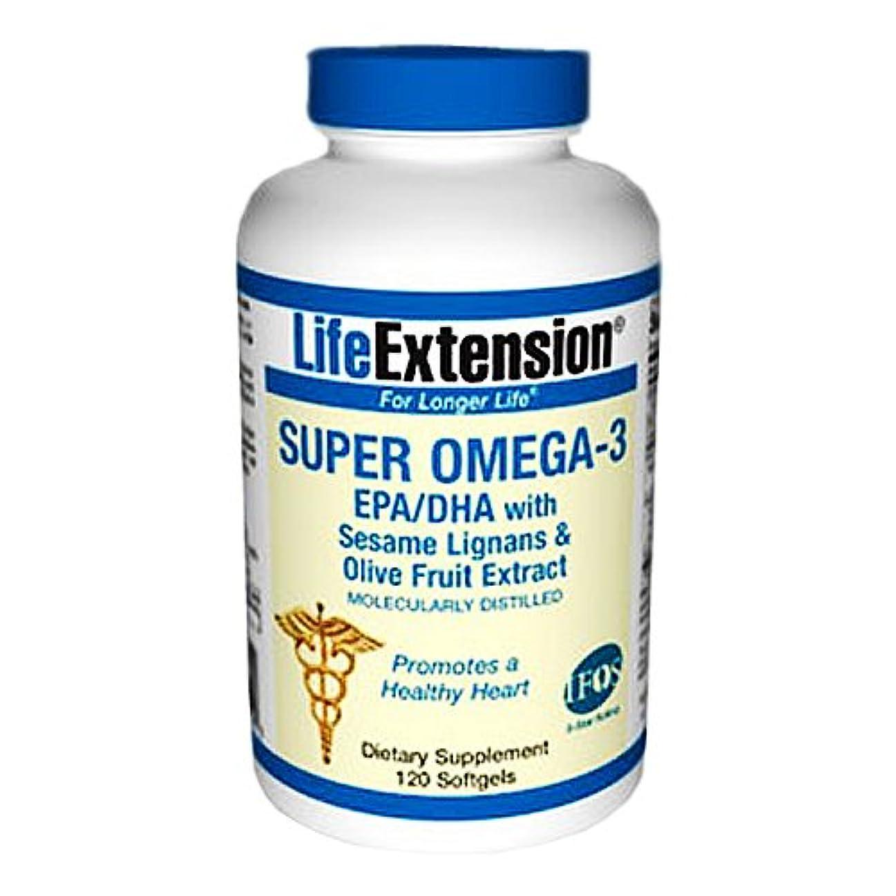 暫定のそしてホーンスーパーオメガ3 EPA / DHA ゴマリグナン&オリーブ果実の抽出物 Omega-3 EPA/DHA with Sesame Lignans & Olive Fruit Extract (海外直送品)