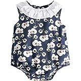 子供服 可愛い 女の子 花柄 ロンパース ジャンプスーツ 服装 幼児 赤ちゃん 女の子 コットン 服 (6-12ヶ月 , BRS8035)