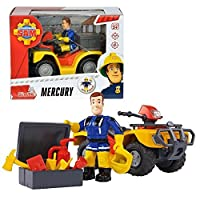 Fireman Sam - キャラクターサムと車のクワッドバイクマーキュリー