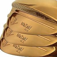 Wazaki Mプロゴルフクラブウェッジセッ右利き用 3本 ゴールド仕上げ 52 56 60度ロフト鍛造軟鉄