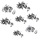 Perfeclan 70Pcs Stainless Steel Sea Fishing Rod Guide Tip Eye Rings Tackle Accessories