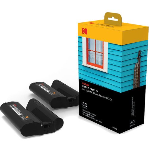 Kodak フォトプリンタードック PD-450 専用カートリッジ2個 + 受像紙80枚セット [並行輸入品]