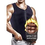 [Newest Effective] Mens Waist Trainer Vest for Weightloss Hot Neoprene Corset Body Shaper Zipper Sauna Tank Top Workout Shirt