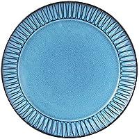 波佐見焼 利左エ門窯 ブルー彫 5寸皿