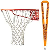 Championスポーツバスケットボールフープnet-non Whipホワイト( Set of 2 ) with 1 performall Lanyard 408 – 2p