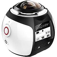 【二個電池付き】SOYA 4k ビデオカメラ 360度カメラ 防水 アクションカメラ 自転車と空撮対応 3D・VR仮想メガネサポート アプリで撮影モード八種類·遠隔操作·日本語対応 V1(シルバー)