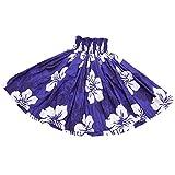 DFギャラリー パウスカート フラ ダンス衣装 レッスン用 シングル JA3333 70cm丈 ブルーxホワイト