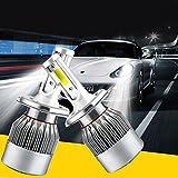 H4 LED ヘッドライトバルブ 72WのHi/Lo車用 ヘッドライトランプに交換用2個セット(1ペア)超高輝度のヘッドライト防水防塵