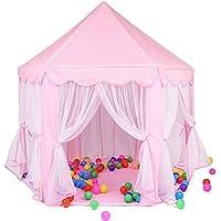 ピンキーファミリPrincess Castle Play TentインドアとアウトドアKids Play House for Boys & Girls Gift For Toddlers (ボールは含まれません)