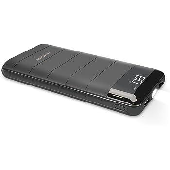 モバイルバッテリー X-DRAGON 大容量 (20100mAh 2USB出力 2A入力 LCD Digi-Power技術 高品質電池 急速充電 LED懐中電灯) iPhone Android カメラ等対応 スマホ急速充電器 地震防災旅行 ポータブル充電器