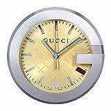 グッチ GUCCI YC210005 グッチ テーブルウォッチ ステンレス×レザー 置時計 ベージュ×ブラウン×シルバー【並行輸入】