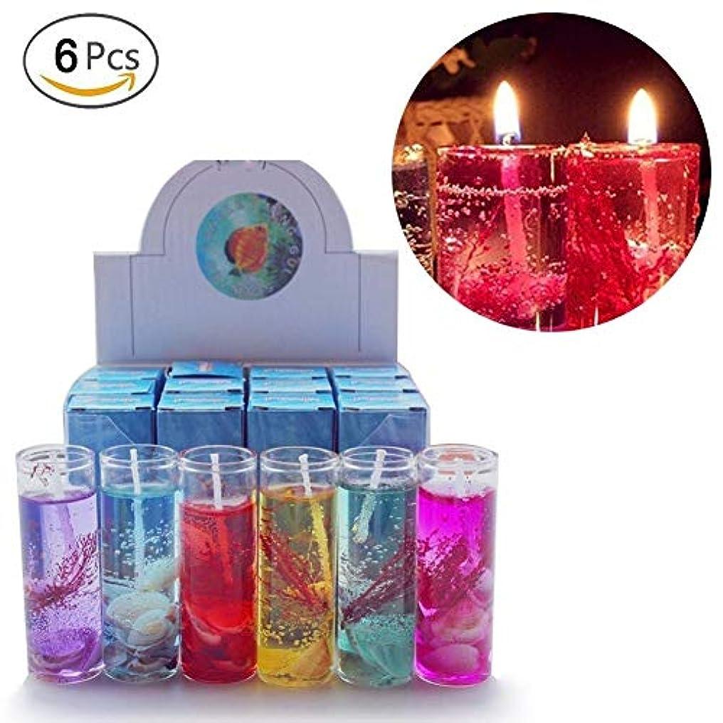 パット予感単調なHacloser 6Pcs Ocean Jelly Aromatherapy Candles Wedding Valentines Romantic Scented Candle, Random Colour